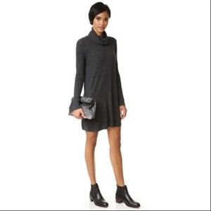 MADEWELL | Ribbed Sweater Dress Tunic Turtleneck